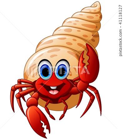 Cartoon hermit crab  41118127