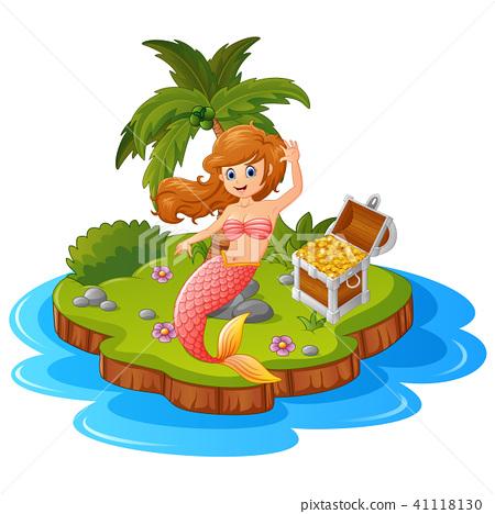 Mermaid in treasure island  41118130