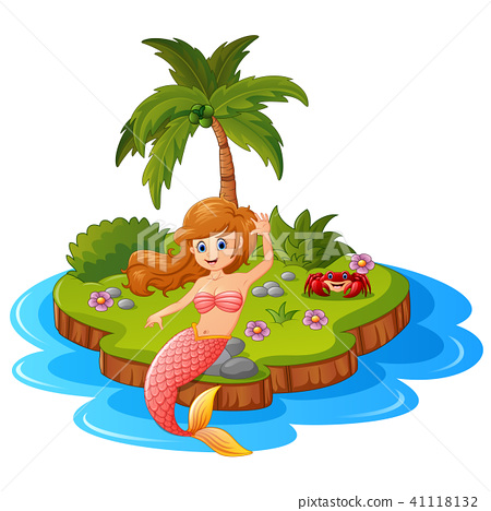 Young mermaid in the island  41118132