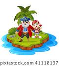 boy cartoon coconut 41118137