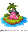 cartoon coconut island 41118138