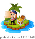 cartoon coconut island 41118140
