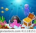 Illustration of under the sea  41118151