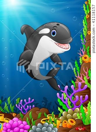 Illustration of under the sea  41118157