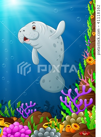 Illustration of under the sea  41118162