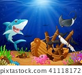 Illustration of under the sea  41118172