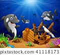 Illustration of under the sea  41118173