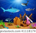 Illustration of under the sea  41118174