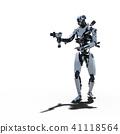 인간형 로봇 perming3DCG 일러스트 소재 41118564