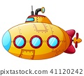 Cartoon yellow submarine  41120242