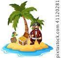cartoon coconut island 41120281
