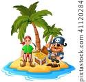 boy cartoon coconut 41120284