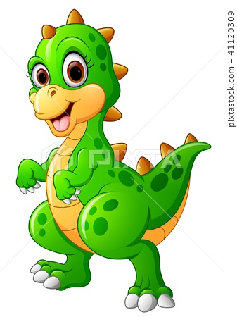 Cute Dinosaur Cartoon Stock Illustration 41120309 Pixta
