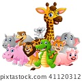 Happy safari animal cartoon  41120312