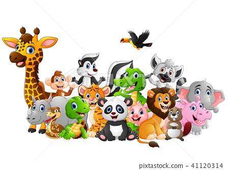 Happy animal cartoon  41120314