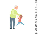 grandfather vector together 41121338