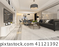 luxury and modern living room and dining room 41121392