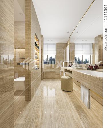 modern bathroom with luxury tile decor  41121393