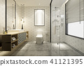 modern bathroom with luxury tile decor  41121395