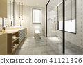 modern bathroom with luxury tile decor  41121396