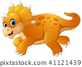 Cute dinosaur cartoon  41121439