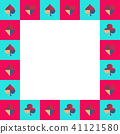 Card Suit Chess Board Blue Sky and Pink Border 41121580