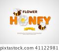 honey flower bee 41122981