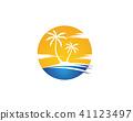 coconut, icon, palm 41123497