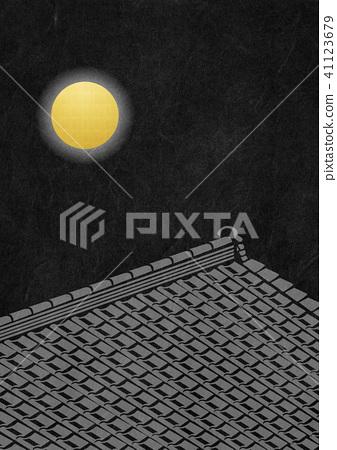 종이의 감촉 보름달 기와 41123679