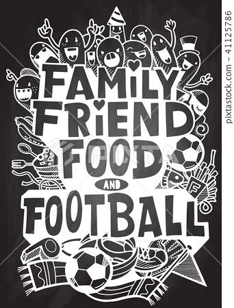 Inspirational quote. Hand drawn, football concept 41125786