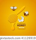 honey bee flower 41126919