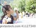 Holi celebration at Vrindavan 41127340
