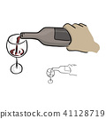 close-up hand pouring wine on glass vector 41128719