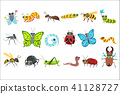 Insect Cartoon Images Set 41128727