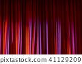 窗帘 幕布 红色 41129209