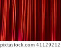窗帘 幕布 红色 41129212