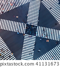 Aerial view of a big intersection in Tokyo 41131673