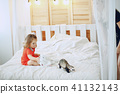 girl with cat 41132143