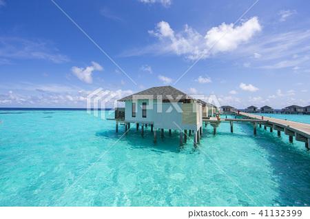 熱帶馬爾代夫馬爾代夫海夏威夷夏季海外水上別墅婚禮沙灘 41132399
