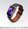 巧妙的手表的图象有黑带的 41133466