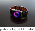 巧妙的手表的图象在黑背景的 41133467