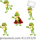 Cartoon frog collection set 41135329