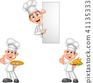 Cartoon chefs collection set 41135333