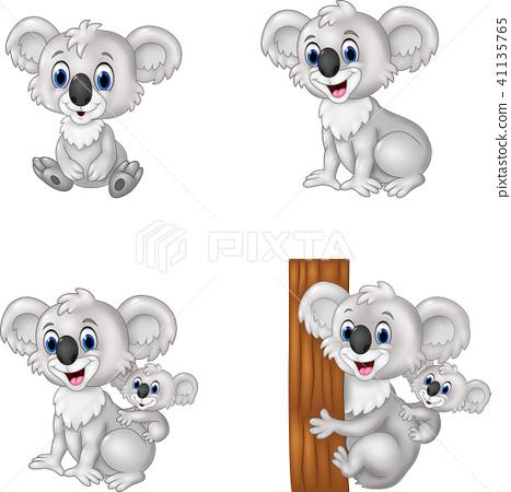 cartoon koala collection set 41135765