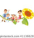 ครอบครัวนั่งทานตะวัน 41136628