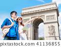 couple travel to paris 41136855
