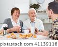 grandparents, grandson, talking 41139116