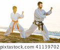 karate, beach, exercise 41139702