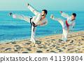 karate, beach, man 41139804