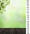 Background - Fresh green - Wood deck 41141658